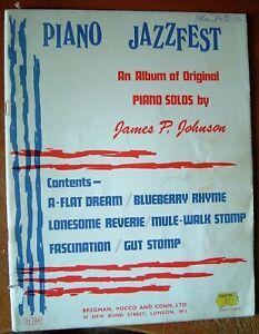 PIANO JAZZ FEST ~ AN ALBUM OF ORIGINAL PIANO SOLOS by JAMES P. JOHNSON ~ RARE