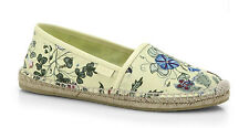 100%authentic Gucci Pilar Floral-Print Espadrille Flats sz 39 / 9 US runs small