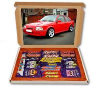Ford Escort RS Turbo XR3I 24 Bar Cadbury Chocolate Hamper Personalised Gift Box