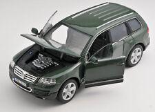BLITZ VERSAND Volkswagen VW Touareg grün / green Welly Modell Auto 1:24 NEU OVP