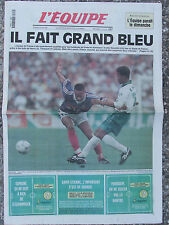 L'Equipe du 19/6/1998 -  Foot : La France qualifiée pour les 1/8e de finale