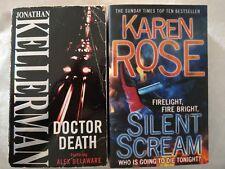 2 BOOKS,  SILENT SCREAM BY KAREN ROSE, DOCTOR DEATH BY JONATHAN KELLERMAN