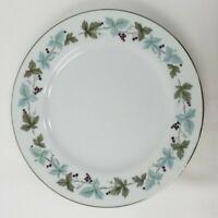 Vintage Fine China 6701 Salad Plates Lot of 4 Blue Green Grapevine Japan