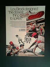 1969 Lou Brock Cardinals Baseball Converse Shoes Closest Thing 2 Spikes Sport AD