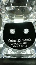 6mm Cubic Zirconia Silver Plated Studs