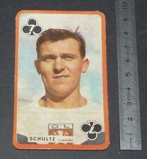 FOOTBALL CARTE PHOTO SCHULTZ OLYMPIQUE LYONNAIS LYON OL GERLAND GONES 1959-1960