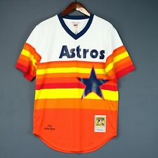 100% Authentic Nolan Ryan Mitchell & Ness Astros MLB Jersey Mens Size 44 L Mens