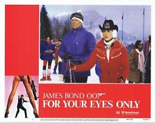 FOR YOUR EYES ONLY -1981- original 11x14 US Lobby Card Set- 8 CARDS - JAMES BOND