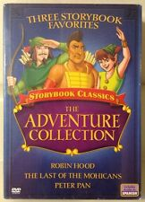 Storybook Classics~The Adventure Collection ~Robin Hood/Peter Pan/Mohicans DVD