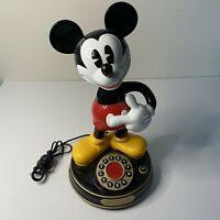 Vintage Mickey Mouse Animated Talking Telephone Disney TeleMania Broken Arm