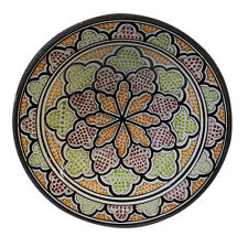 Moroccan Ceramic Plate Handmade Pasta Bowl Serving Wall Hanging 14inches X-large  sc 1 st  eBay & Handmade Ceramic Decorative Plates | eBay