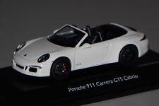 Porsche 911 (991) Carrera GTS Cabrio weiß 1:43 Schuco 7576 neu & OVP