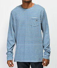 Salty Crew Tee Scallywag Crew Men's T Shirt w/ Pocket Blue Large MM19 NWT