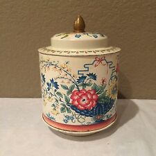Vintage Murray Allen Regal Crown Confections Tin ~ Floral Theme ~ With Lid Colle