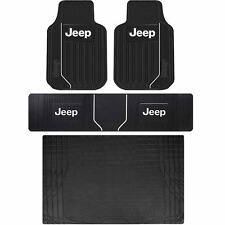 Jeep Mopar Elite Speed Steering Front Rear Runner & S-Cargo Rubber Floor Mats