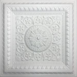 "Styrofoam Ceiling Tile, DIY, 20"" x 20"", MAGIC White Glue Up"