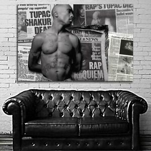 EB016 Tupac 2Pac Rap Hip Hop Art Music Musician Poster and Canvas