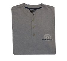 Nero Perla Men's Gray Cotton Pajama Top M