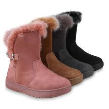 Damen Stiefeletten Schlupfstiefel Warm Gefütterte Winter Boots 824975 Schuhe
