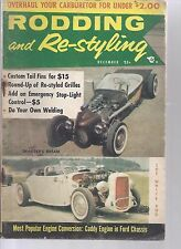 DECEMBER 1956  RODDING AND RE STYLING MAGAZINE HOT ROD CUSTOM