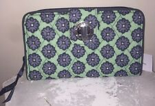 NEW VERA BRADLEY Turn Lock Wallet NOMADIC BLOSSOMS Clutch RETIRED NWT #14448-586
