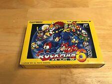 CIB Capcom Rockman 6 Nintendo Famicom Game Megaman NES Keiji Inafune Complete