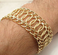 Technibond Adjustable Multi Circle Rolo Bracelet 14K Yellow Gold Clad Silver HSN