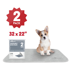"""34"""" x 22"""" XL-LONG Paw Inspired Washable Pee Pads for Dogs, Puppy Training Pads"""