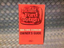 1980 Ford Econoline Van NOS Owners Manual