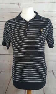 Fila Gold Knitted Cotton Polo Shirt Paul Weller Mod 80s Casuals Small