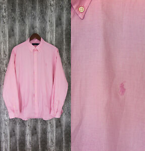 Ralph Lauren Pink Long Sleeve Men's Shirt Size L