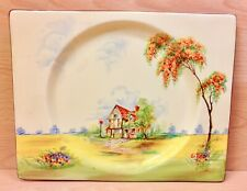 "Clarice Cliff Royal Staffordshire Biarritz ""The Inn"" Pattern Plate."