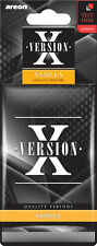 Air Freshener Areon X Version Vanilla Aromatic Tree Car Scent Perfume