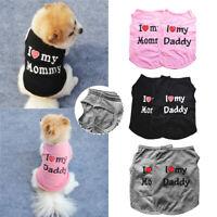 Pet Cat Dog Cotton Clothes Small Medium Dogs Vest Pet T-shirt Clothing Outdoor