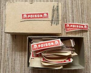 Vintage Poison Gummed Strip Labels & Original Box