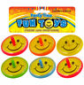 6 Smile Spinning Tops - Pinata Toy Loot/Party Bag Fillers Kids