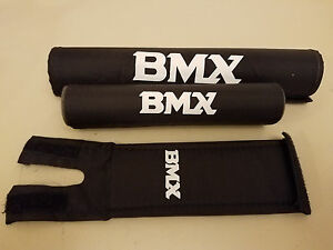 NOS Old School BMX Pads...Vintage...Black...Bicycle...Bike...Pad Set