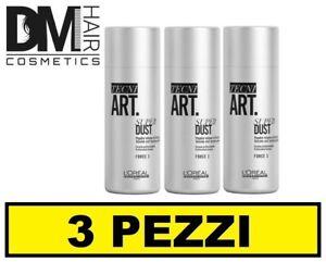 3 PEZZI L'OREAL TECNI ART SUPER DUST 7g 0.25fl.oz POLVERE VOLUMIZZANTE E TEXTURE