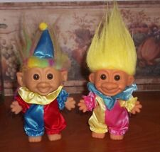 TROLL DOLLS  - PAIR OF CLOWNS - RUSS & BRIGHT OF AMERICA - 5""