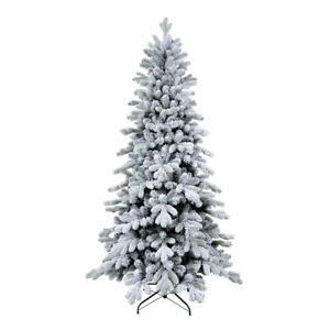XONE Albero di Natale Cervino innevato Slim in PE e PVC