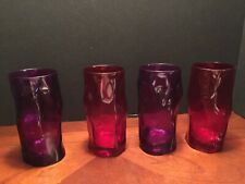 Bormioli Rocco Sorgente Colored Glasses, Fuchsia and Red  Set of 4