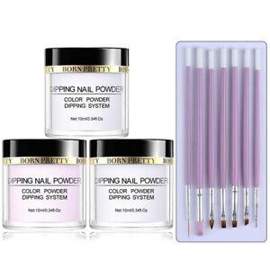 10pcs/set Acrylic Powder Kit Clear Acrylic UV Brushes Kit Nail System