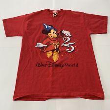 VTG 90s Mickey Inc Rare Walt Disney World 25th Anniversary T-Shirt Adult Large