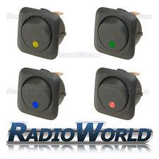4x Misto LED Illuminato Rocker Interruttore ON/OFF 12 V 25 A LUCE Dash per Auto Furgone