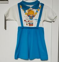 VINTAGE 1983 Hallmark Dobie RAINBOW BRITE & TWINK dress girls RARE size 6 SIX