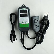 Inkbird Dual Stage ITC-308S Temperature Controller Outlet w/6.65ft DC Cord Probe