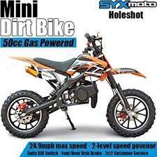 Syx Moto Kids Mini Dirt Bike Gas Power 2-Stroke 50cc Motorcycle, Orange