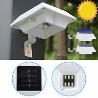 6 LED Solar Powered Gutter Fence Lights Outdoor Garden Waterproof Wall Lamp US