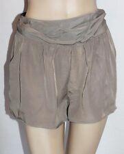 Spicysugar Designer Khaki Silky Slip-On Dress Shorts Size 8-XS BNWT #sd64