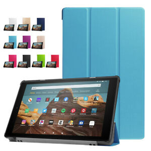 """For Amazon Fire HD 10 2019 9th Gen 10.1"""" Leather Smart Stand Tablet Case Cover"""